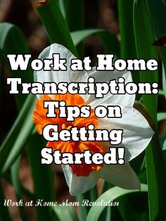 Work at Home Transcription: Tips on Getting Started!