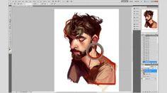 LOIS VAN BAARIE photoshop sketch process.