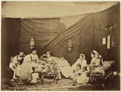 Felix-Jacques Moulin, Mauresques en costumes d'interieur, Alger, 1857.