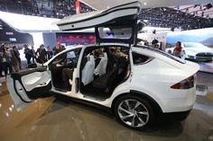 Tesla Model X live photos: 2013 NAIAS