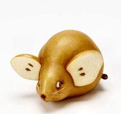 Animal Figurines | Home Grown Veggie Animal Figurine - Pear Mouse