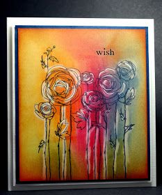 Eileen's Crafty Zone: Coventry Workshop Sample ... Distress Inks, Stampendous Stamp and a White Wax Crayon.