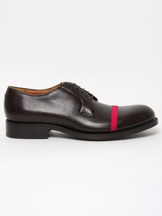 Raf Simons Brown Leather Shoe W pink Strap