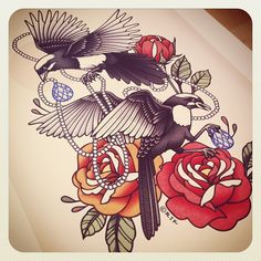 love love love this tattoo design by rik lee