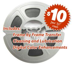 8mm film reel transfers and conversions