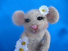 Collectible Needle felted Mouse Rat OOAK by grannancan on Etsy