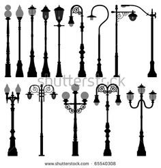 Buy Lamp Post Lamppost Street Road Light by Leremy on GraphicRiver. This is a big set of lamp post (city and street lights) for urban area in silhouette vector. This set of black silhou. Outdoor Lamp Posts, Garden Lamps, Garden Lamp Post, Silhouette Vector, Black Silhouette, Outdoor Lighting, Entrance Lighting, Lamp Light, Poster