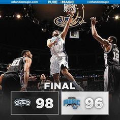 Heartbreaking.  Elfrid Payton was unable to connect on a potential game-tying reverse layin at the buzzer as Orlando came up short against San Antonio. Evan Fournier scored a team-high 28 points. 2/10/2016