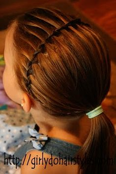 Great site for hairstyles.. This one looks awesome and I could modify it for gym. Maybe some coordinating ribbon to go along with it.