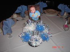 baptism decorations ideas | How to Make a Baptism Centerpiece for Boys | eHow.com