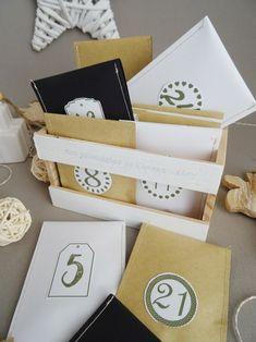 Calendrier de l'Avent Zen - DIY inspirant et bienveillant - Curieusement Bien Christmas Time, Xmas, Holiday Decor, Oui, Education, Pet Gifts, Goodie Bags, Make Funny Faces, Navidad