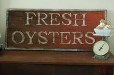 oysters, oysters, oysters, did I mention I love oysters