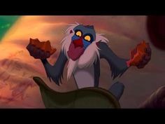 In the original Lion King Rafiki only recognises Simba's scent on the wind after eating a Baobob fruit the taste triggering the memory of anointing Simba with the same fruit as a lion cub at the beginning of the film. Rafiki Lion King, Lion King 3, The Lion King 1994, Simba And Nala, King Simba, Disney Lion King, Lion Cub, Disney Movies, Disney Pixar