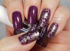 Blackberry poppies: Literary Lacquers Soul Within Me Burning + UberChic Beauty 9-02