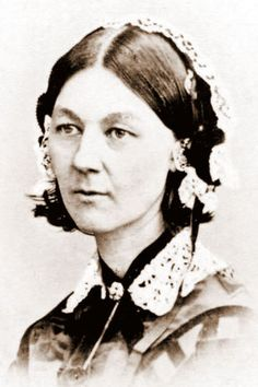 """Florence Nightengale 1820-1910  Founder of modern nursing she was called """"Lady With The Lamp."""""""