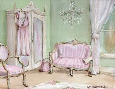 Ready to Frame Print - The Elegant Bedroom - Postage is included Worldwide