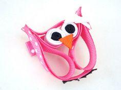 Unique Novelty Owl Ribbon Sculpture No Slip Hair Clip by bowsweet, $6.50