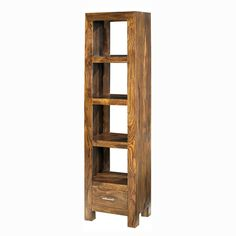 Cuba Sheesham Slim Jim Bookcase
