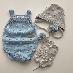 knitting instructions for dog sweaters Knitted Baby Clothes, Knitted Romper, Baby Boy Knitting, Knitting For Kids, Baby Pullover, Baby Cardigan, Baby Girl Romper, Baby Dress, Baby Rompers