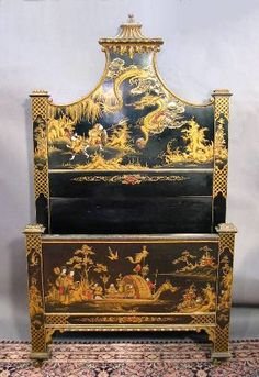 chinoiserie bed