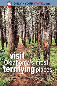 If you're looking to visit the scariest spots in Oklahoma, then check out these 11 terrifying places. From cemeteries to hotels to ghost towns, these places are not for the faint of heart. Weekend Vacations, Vacation Places, Vacation Trips, Vacation Spots, Day Trips, Branson Vacation, Scary Places, Haunted Places, Abandoned Places