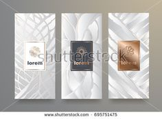 Vector set packaging templates with different texture for luxury products.logo design with trendy linear style. Packaging, Different Textures, Royalty Free Stock Photos, Logo Design, Templates, Luxury, Frame, Illustration, Style