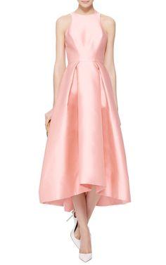 Silk Mikado Structured Midi Dress by Monique Lhuillier - Moda Operandi