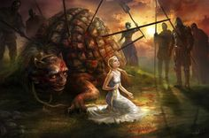 This is about an old medieval Christian legend about the Tarasque, that plagued the people of Nerluc (in France) for over 7 years, until St. Martha came and agreed to help them. She went to meet the creature without weapons, saw it devouring its latest victim and managed to get behind it unnoticed.  As the creature turned, she had picked two pieces of wood, making them the sign of the cross and she showed it to the Tarasque. She also sprinkled Holy Water to its face. (Keep reading below)
