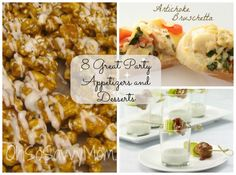 Party pleasing appetizers and desserts