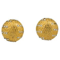 Check out this item at One Kings Lane! Chanel Rhinestone Writing Earrings