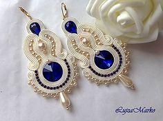 Bride Earrings, Lace Earrings, Boho Jewelry, Fashion Jewelry, Women Jewelry, Handmade Necklaces, Handmade Jewelry, Tree Of Life Jewelry, Soutache Necklace
