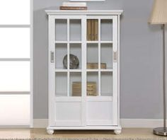 I found a White Glass Door 4-Shelf Bookcase at Big Lots for less. Find more at biglots.com!
