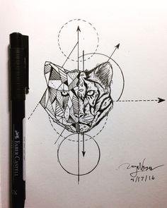 #tiger #animal #geometric  First design I did.