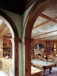 Game room with map ceiling, and abundant character...