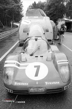 The Ferrari 512s on the set of 'Le Mans'. http://www.themanlemans.com/?utm_source=pinterest&utm_medium=breed%20pinterest&utm_content=Cars%20board&utm_campaign=Pinterest%20boards #McQueen #SteveMcQueen #TheManLeMans #LeMans
