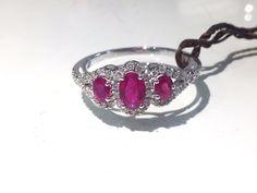 Visconti Preziosi Anello con Rubini e Diamanti Ring with Rubies and Diamonds Heart Ring, Passion, Rings, Ebay, Jewelry, Jewlery, Jewerly, Ring, Schmuck