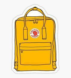 kanken yellow backpack Sticker art hoe laptop stickers Hmu on insta: lanah_iso Macbook Stickers, Phone Stickers, Cool Stickers, Printable Stickers, Preppy Stickers, Cute Laptop Stickers, Image Stickers, Yellow Backpack, Red Bubble Stickers