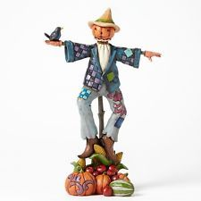 Jim Shore Being Scary is For the Birds Scarecrow with Pumpkin Figurine 4041149