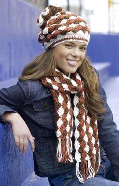 shell-stitch-hat-and-scarf - free crochet pattern