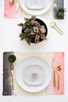 DIY Dip Dye Placemats Tutorial... link for the How-to:   http://www.designlovefest.com/2014/02/make-it-50/