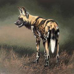 Painted Wolf by Fuz-Caforio-Art.deviantart.com on @deviantART