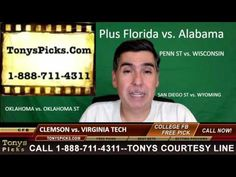 Clemson Tigers vs. Virginia Tech Hokies Free NCAA College Football Picks...