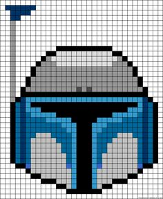 Jango Fett Star Wars perler bead pattern