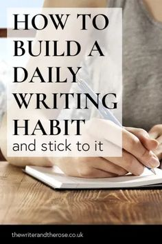 How To Build A Daily Writing Habit (And Stick To It) Creative Writing Tips, Book Writing Tips, Start Writing, Writing Help, Writing Skills, Writing Prompts, Writing Ideas, Writing Studio, Writing Corner