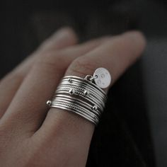 Timeless with a touch of bohemian, this ring is made for a woman who knows what she wants!  A simple set of 14 stacked piece ring, the overall weight of