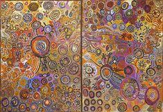Women Collaborative - Kaltjiti - 300 x 200 cm http://www.aboriginalsignature.com/artaborigenenouveautes/women-collaborative-kaltjiti-300-x-200-cm