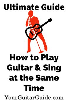 How to play guitar & sing at the same time. Learn all the techniques needed to play the guitar, & sing at the same time. With this Ultimate Guide you can . Guitar Songs For Beginners, Basic Guitar Lessons, Guitar Chords Beginner, Easy Guitar Songs, Online Guitar Lessons, Guitar Tips, Music Guitar, Playing Guitar, Learning Guitar