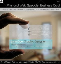 Transparent Print and Web Specialist Business Card by *HollowIchigoBanki on deviantART