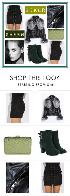 """""""Biker Green Winter look from Twinkledeals"""" by beanpod ❤ liked on Polyvore"""
