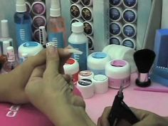 Preparación para la uña de gel // Técnicas básicas video 01 de 08 Acrylic Nails At Home, Acrylic Nail Shapes, Gel Top Coat, Manicure Y Pedicure, Creative Nail Designs, Nail Art Tutorials, Nude Nails, Beauty Nails, Sculpted Nails